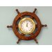 Deluxe Class Wood Ship Wheel Clock
