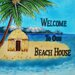 "8"" x 8"" Welcome to our Beach House Art Tile in Multi"