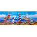 "16"" x 6"" Light House Art Tile in Multi"