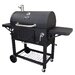 Charcoal Grill with Adjustable Charcoal Tray and Cast Iron Cook Grate