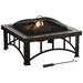 <strong>Hampton Natural Slate Fire Pit in Rubbed Bronze</strong> by Pleasant Hearth