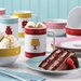 Serveware Mini Cakes 12 Piece Porcelain Complete Dessert Serving Set
