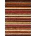 Mansoori Textured Red Stripes Area Rug by Kalora