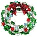 Bow Christmas Wreath Christmas Crystal Brooch