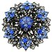 Flower Bridal Wedding Perovskia Crystal Brooch Pendant