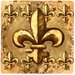 Fleur de Lis Travertine Ambiance Coaster Set