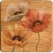 Poppy Allure II Bamboo Coaster