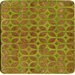 Olive Lattice Bamboo Coaster