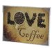 Love Coffee Glass Wall Art