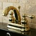 Restoration Double Handle Centerset Bathroom Sink Faucet with ABS Pop-Up Drain