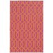 <strong>Matrix Red Geometric Rug</strong> by Pantone Universe