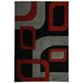 Moderno Black Abstract Rug