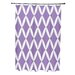E By Design Geometric Shower Curtain