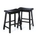 "24"" Belfast Saddle Stool in Black"