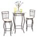 Gabriella 3 Piece Pub Table Set