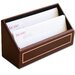 <strong>5000 Series 24kt Gold Tooled Leather Letter Holder in Burgundy</strong> by Dacasso