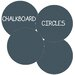 <strong>WallCandy Arts</strong> Chalkboard Circles Removable Wall Decal (Set of 4)