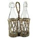 <strong>Two Place Wicker Bottle Holder with Bottles</strong> by Blossom Bucket