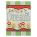 """<strong>""""Take Time to Dream"""" with Flowers by Tina Ledbetter Graphic Art Plaque</strong> by Blossom Bucket"""