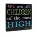 "<strong>Decorative ""Children Of Most High"" Wall Box Sign</strong> by Blossom Bucket"