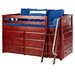 <strong>Wildon Home ®</strong> KICKS2 Low Loft Slat Bed with Angle Ladder and 6 Drawer Dresser
