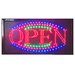 "12"" x 23"" Animated LED Open Sign"