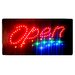 """<strong>10"""" x 19"""" Animated Motion LED Neon Light Open Sign</strong> by DSD Group"""