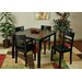 <strong>OSP Designs</strong> Everidge 5 Piece Dining Set