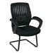 <strong>Screen Back Contour Shell Sled Base Visitor Chair with Padded Arms</strong> by OSP Designs