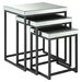 OSP Designs Krystal 3 Piece Nesting Table Set