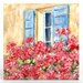<strong>Paris Window Painting Print on Canvas</strong> by Artefx Decor