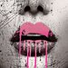 "<strong>""Dripping Lips"" Graphic Art on Canvas</strong> by Salty & Sweet"