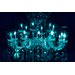 "Fluorescent Palace ""Liquid Chandelier Blue"" Canvas Art"