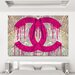 """Fluorescent Palace """"Read It In The News Pink"""" Canvas Art"""