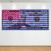 "Crush Collective ""Stars Vs. Stripes Blue"" Canvas Art"