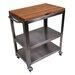 John Boos Cucina Americana Culinarte Kitchen Cart with Butcher Block Top