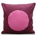 Circle Design Pillow in Fuschia/Pink Shell