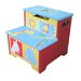 Animal Hand Painted Bright Colour Toddler Step Stool All 4 Kids