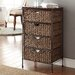<strong>Farmington 4 Drawer Maize Weave Chest with Wood Top</strong> by 4D Concepts