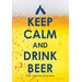 <strong>Keep Calm Beer Tin Sign Textual Art</strong> by NMR Distribution