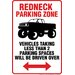 <strong>Redneck Parking Tin Sign Graphic Art</strong> by NMR Distribution