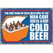 <strong>NMR Distribution</strong> Man Cave Cold Beer Tin Sign Vintage Advertisement
