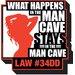 NMR Distribution Man Cave - What Happnes Magnet