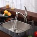 Stainless Steel Undermount 23&quot; Single Bowl Kitchen Sink with 10.75&quot; Kitchen Faucet and Soap Dispenser