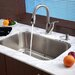 Stainless Steel Undermount 30&quot; Single Bowl Kitchen Sink with 14.5&quot; Kitchen Faucet and Soap Dispenser