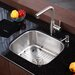 "Stainless Steel Undermount 20"" Single Bowl Kitchen Sink with 13.25"" Kitchen Faucet and Soap Dispenser"