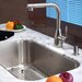 "Stainless Steel Undermount 30"" Single Bowl Kitchen Sink with 13.25"" Kitchen Faucet and Soap Dispenser"