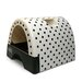 Designer Cat Litter Box with Polka Dot Cover