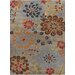 Chandra Rugs Bajrang Grey Floral Area Rug