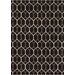 <strong>Chandra Rugs</strong> Davin Black Geometric Rug